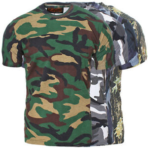 Game-T-Shirt-Army-Militaer-Camo-Camouflage-Outdoor-Armee