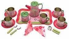 Childrens Tea Sets Toy Kitchen Set Toy teaset Teasets For Girls Tin Tea Set