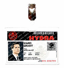 Agents of Shield ID Badge Hydra Grant Ward Avengers Cosplay Costume Comic Con