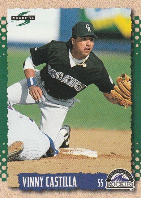 FREE SHIPPING-MINT-1995 Score Colorado Rockies Baseball Card #483 Vinny Castilla