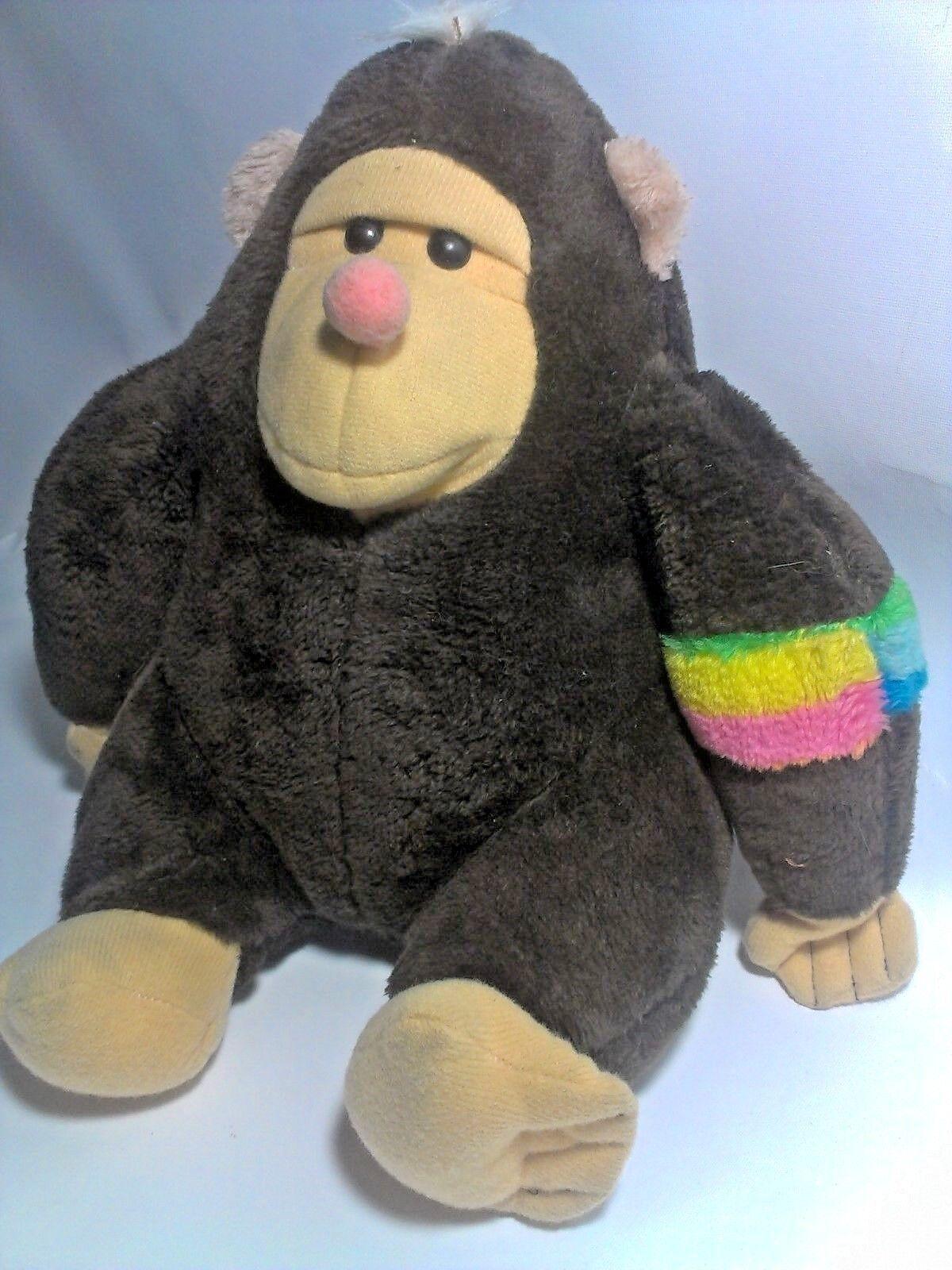 Nanco Gorilla LARGE Plush Stuffed Animal Ape Fat Round Monkey 13