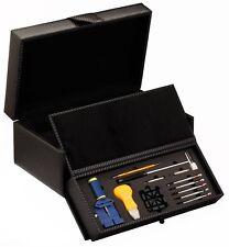 Diplomat Carbon Fiber Watch Box Storage Chest Case 10 Watches w/ Repair Tool Kit
