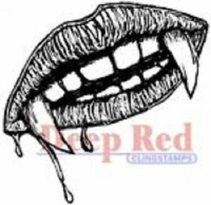 Deep Red Stamps Deep Red 2 by 2 Cling Stamp 2x2 Old Mail Truck