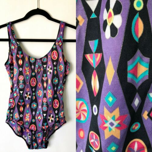 Vintage 80s Diane Freis Swimsuit Bathing Suit Leot