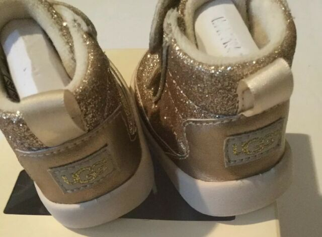 74dbae48776 UGG Australia Pritchard Sparkles Baby Girl BOOTS Gold Size 0-6 Months  Infant XS