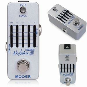 new mooer graphicb 5 band eq bass guitar pedal true bypass equalizer graphic b ebay. Black Bedroom Furniture Sets. Home Design Ideas