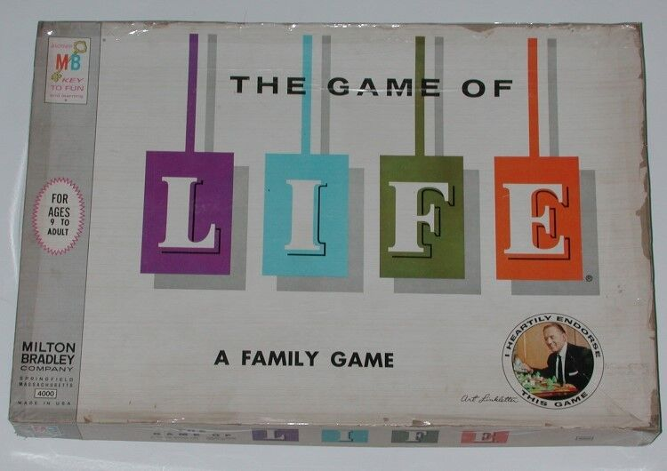 Vintage 1960 THE THE THE GAME OF LIFE Board Game f3663c