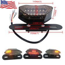 Smoke 20LED Motorcycle Turn Signal Brake License Plate Integrated Tail Light