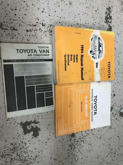 1984 Toyota Van Service Repair Shop Workshop Manual Oem
