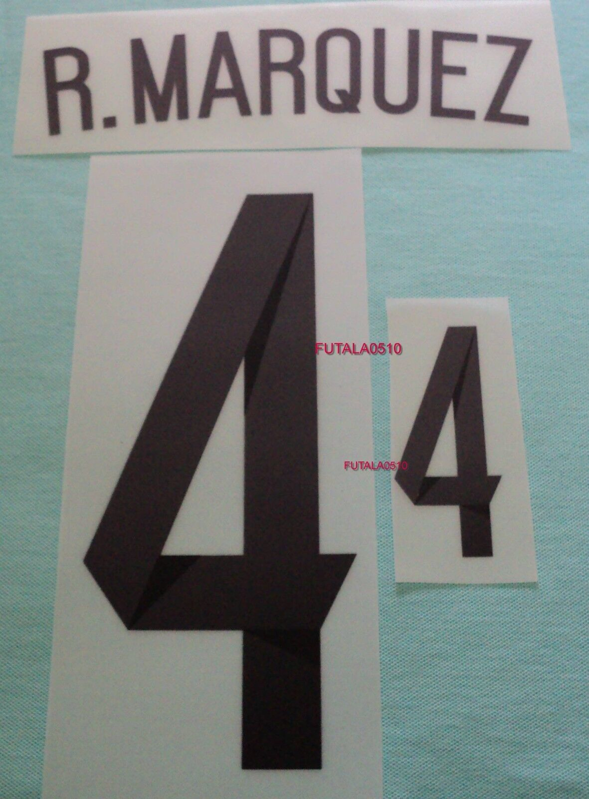 R. MARQUEZ MEXICO 2014 AUTHENTIC AWAY PLAYER NAME AND NUMBER SET