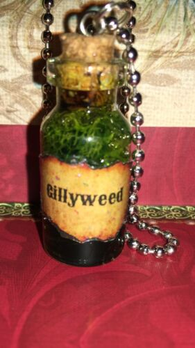 Gillyweed Glass Potion Bottle Necklace Fan Of Harry Potter Mad Eye Moody 2ml