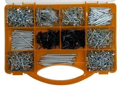 Brackit ongles Assortiment Kit contenant ASSORTIMENT DE 2000 clous et Brads