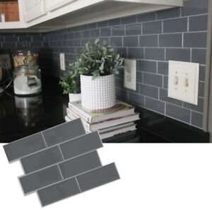 3D-Grey-Subway-Tile-Peel-And-Stick-Self-Adhesive-Wall-Sticker-Home-Decor