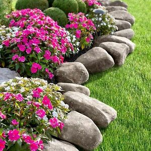 Charmant Image Is Loading Fake Rock Lawn Edging Garden Landscape Stone Border