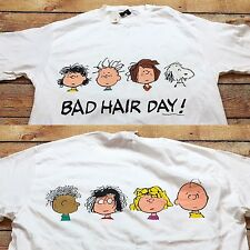 90s VTG NWT CHARLIE BROWN Peanuts SNOOPY T Shirt BAD HAIR DAY supreme XL iceberg