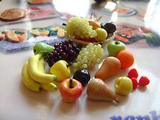 LOT 15 MIX FRUIT dolls house food  maison de poupée Dolls house PUPPENHAUS