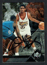 Larry Hughes #62 signed autograph auto 1999-2000 Upper Deck Black Diamond Card