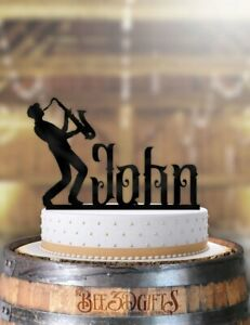 Magnificent Personalized Male Sax Music Birthday Cake Topper Ebay Personalised Birthday Cards Bromeletsinfo