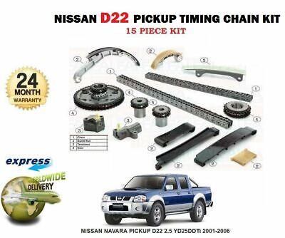 Pour Nissan Navara D22 Pickup 2.5 Yd 25 ddti 2001-2006 TIMING CAM Chain /& Gear Kit