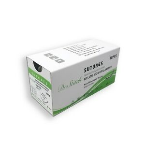 3-0-Ausbildung-chirurgisches-Nahtmaterial-Nylon-monofile-12-Stueck-steril