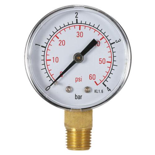 """TS-50-4bar 0~60psi Water Pressure Gauge Meter Manometer 1//4/"""" BSPT Thread M4O9"""