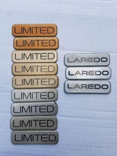 Jeep Grand Cherokee LIMITED BADGE EMBLEM DOOR OEM  PICK ONE 96 97 98 99 LAREDO
