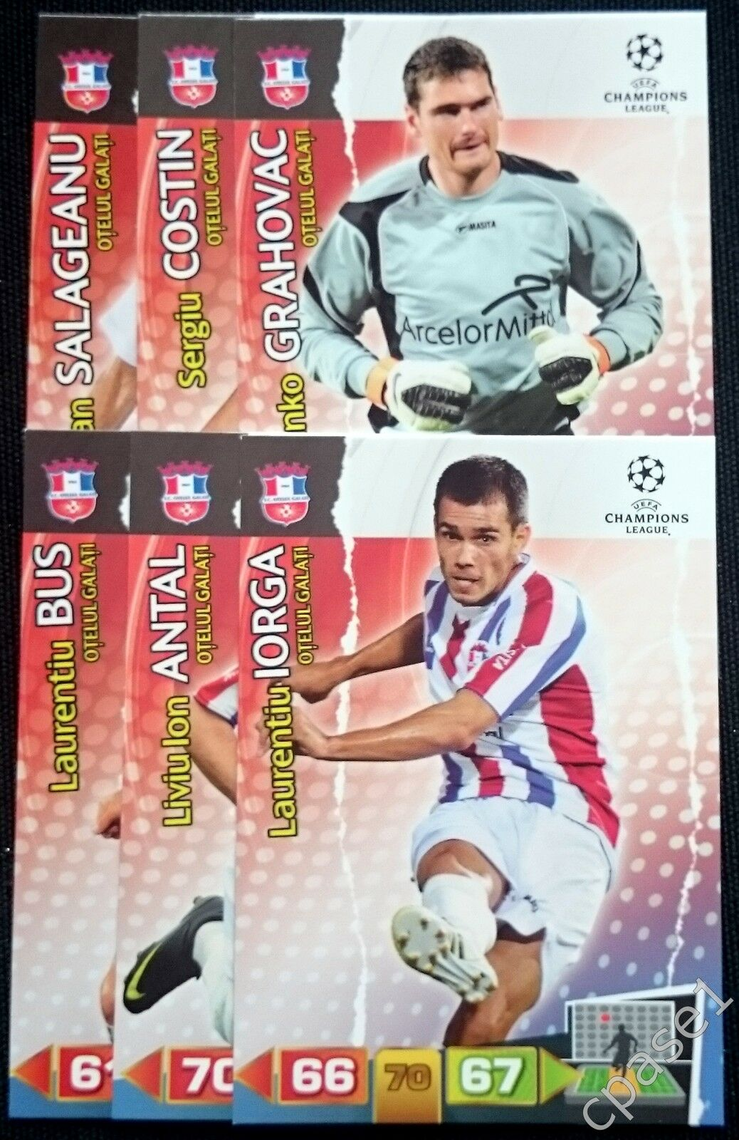 8 Panini Adrenalyn Xl campeón de la Liga 2011//12 Tarjetas de jugador de equipo Shakhtar Donetsk