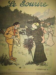 LE-SOURIRE-N-205-JOURNAL-HUMORISTIQUE-DESSINS-BERTRAND-CADEL-POULBOT-1903