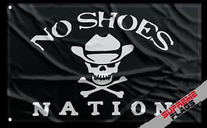 Shoes Flag Banner 3x5 No Nation Flag Garage Black Skull Bone Cowboy