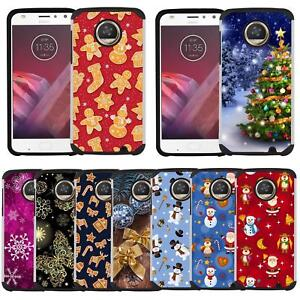 best sneakers 2cd9b 379f0 Details about Christmas Holiday Design Case Phone Cover for Motorola Moto  Z3 / Moto Z3 Play