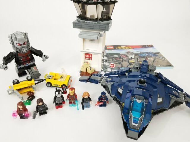LEGO Marvel 76051 Super Hero Airport Battle complete minifigs Avengers Civil War