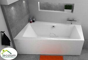 badewanne trapez eckwanne eckig acryl modern 170 x 110 cm. Black Bedroom Furniture Sets. Home Design Ideas
