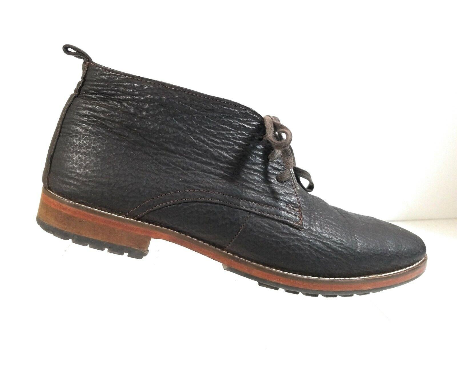 Alan Payne Hombres Alta Top Zapatos Marrón Cuero Con Cordones Chukka Tobillo botas