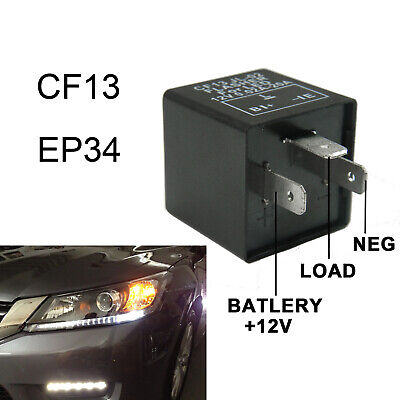 CF13 or EP34 LED Turn Signal Flasher fixes hyper blinking for Acura and Honda Models