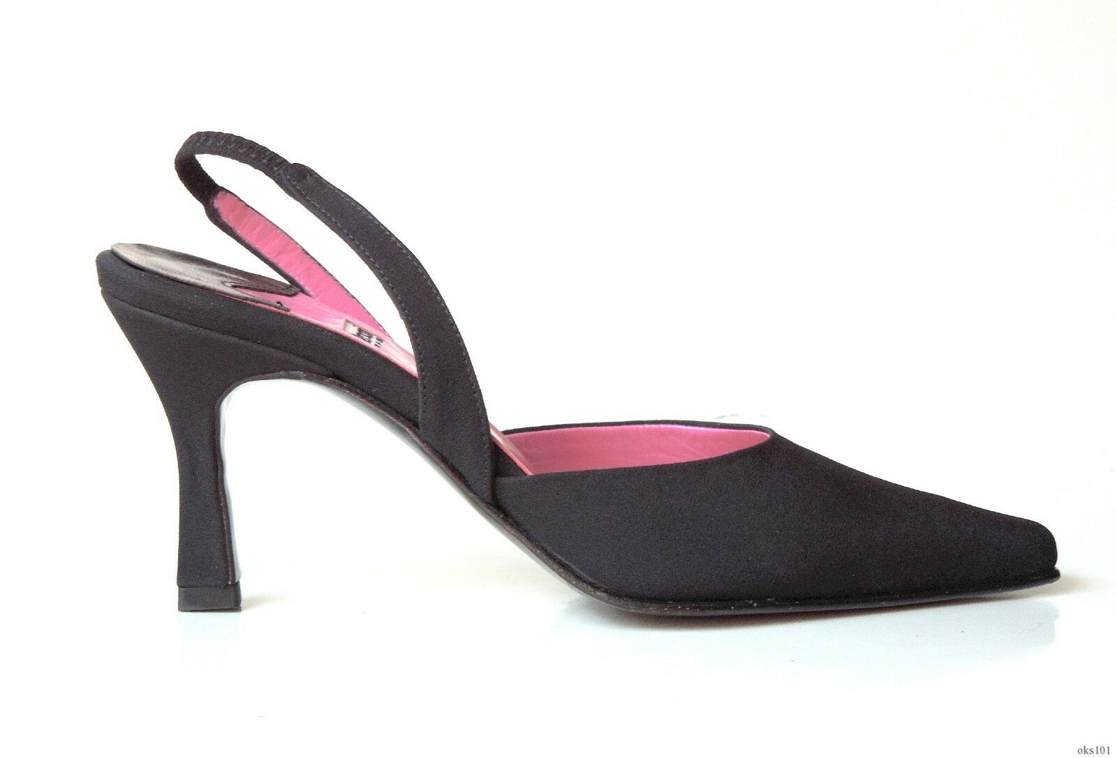 Nuevo Versani 8523 Negro Crepé Crepé Crepé Slingback zapatos de salón Italia-Elegante 6cb696