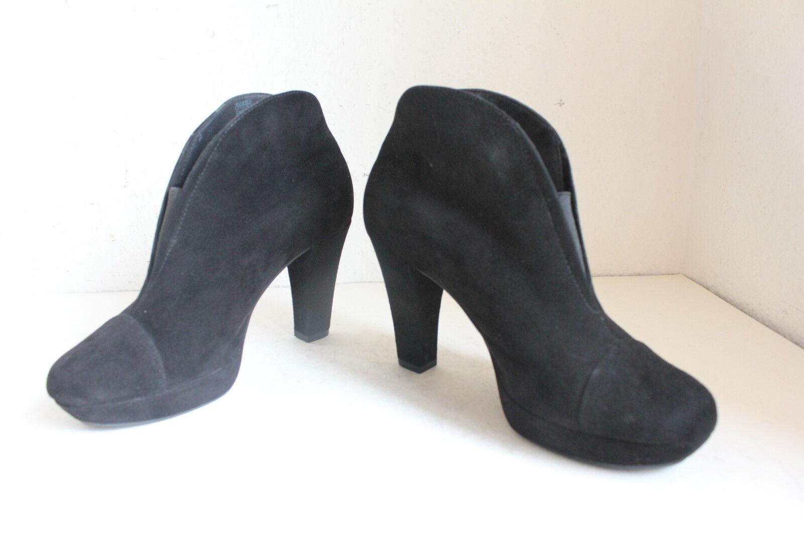Marc Elegante Trendy Stiefeletten Boots Nubukleder Schwarz Eu:38,5-Uk:5,5