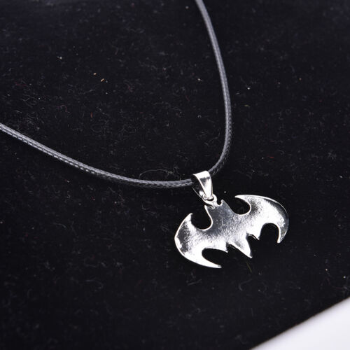 Cool Marvel Super Heroes Bat Stainless Steel Silver Fashion Pendant Necklace VGC