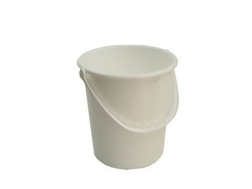 New Lucy Small White Plastic Bucket 5Ltr