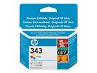 2x Genuine Original Ink Cartridge - HP 343 Tri Colour C8766e
