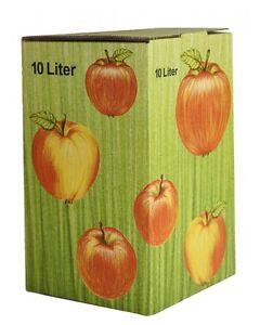 25 Pcs 10 L Bag En Box Carton Dans Pomme Décor (1,40 €/1stk)-afficher Le Titre D'origine