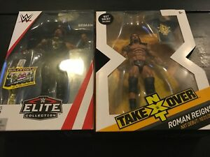 Wwe & Nxt Elite Roman Reigns - Lot de 2 figurines série 62 et flashback rare