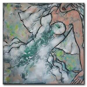 NB*Braut*80x80*Akt*Erotik*Nu*Kunst*Original*Gemälde*UNIKAT*art*painting*peinture