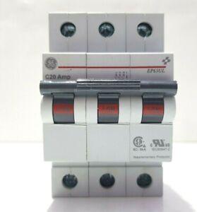 GE EP63ULC20 686705 IEC SUPPLEMENTARY PROTECTOR MCB EP63UL 6000A 277/480VAC