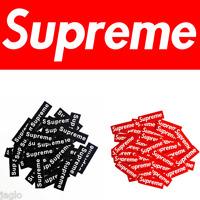 1/10/25 pcs Red / Black Supreme Box Skateboard Logo Sticker Decal Phone Car Toy