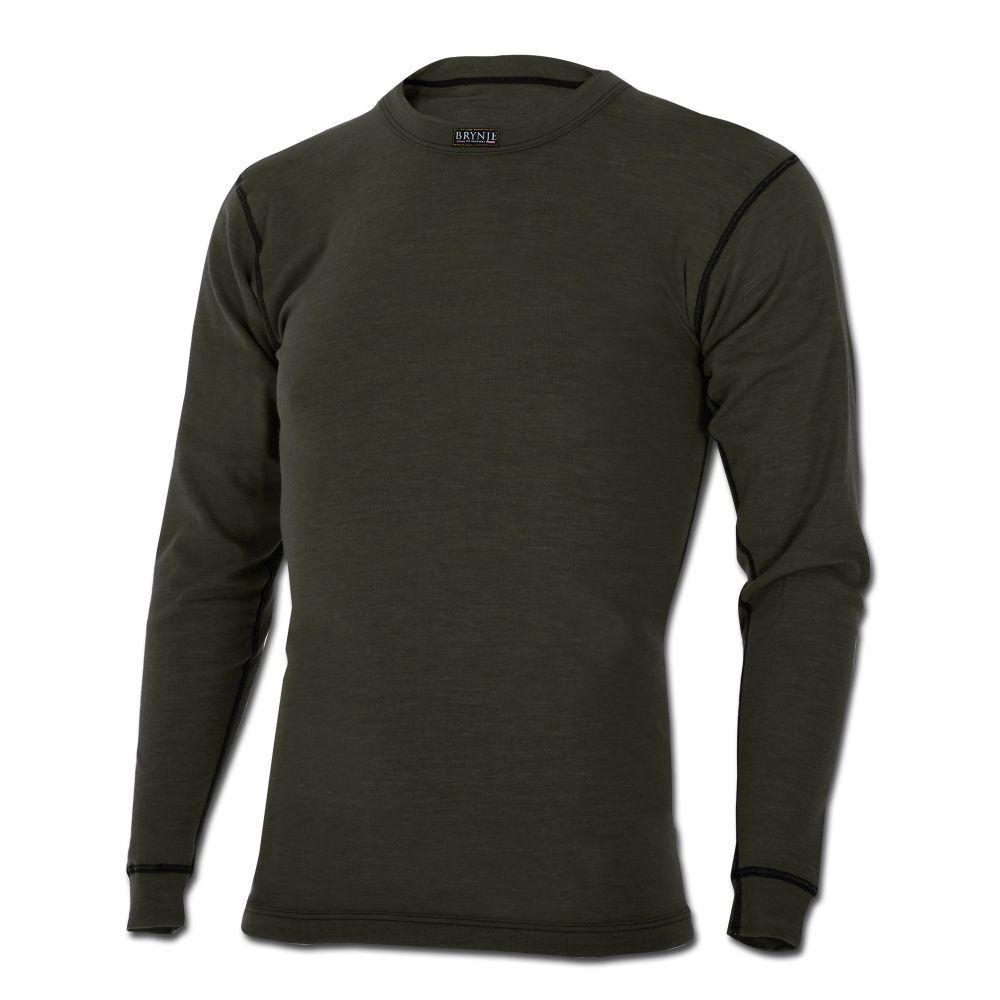 Brynje Unterhemd Classic Unterwäsche langarm Outdoor oliv wärSied