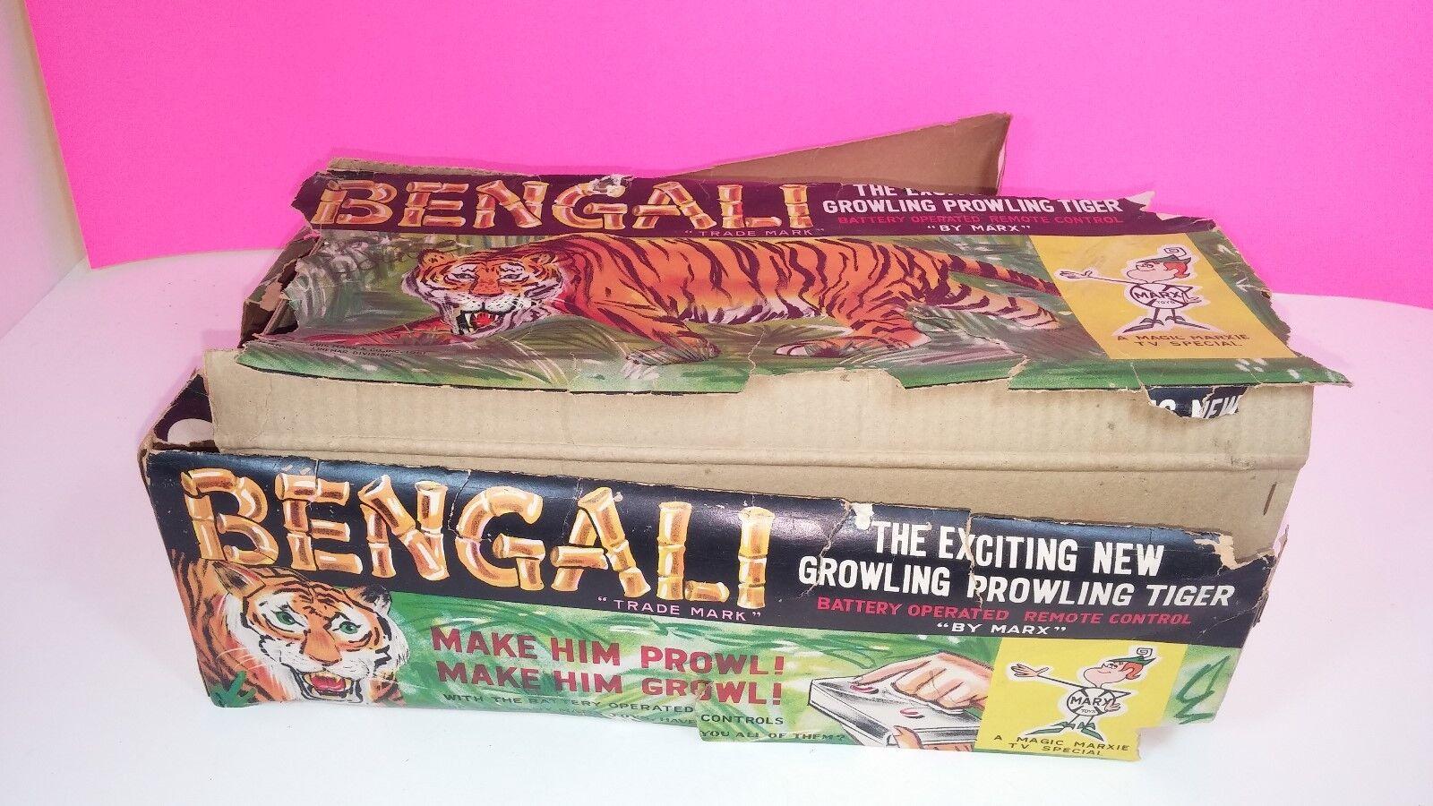 Marx vintage batteriebetriebene bengalische tiger figur 1961