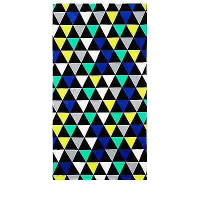 NEW Vue Utopia Beach Towel: Triangle Blue