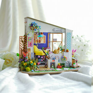 ROBOTIME-DIY-Wooden-Miniature-Dollhouse-Kit-Handcraft-House-Project-Adult-Girls