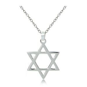 Sterling-Silver-Star-of-David-Polished-Necklace