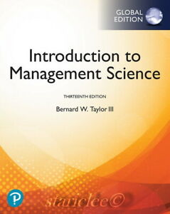 NEW-3-Day-AUS-Introduction-to-Management-Science-13E-Bernard-Taylor-13th-Edition